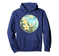 Ocean City Maryland Surfing Flower T Shirt Hoodie Navy