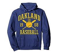 Oakland Baseball Vintage Oak Pride Retro Distressed Gift Shirts Hoodie Navy