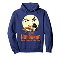 Happy Halloween With Extraordinary Dogs And Cats T Shirt Hoodie Navy