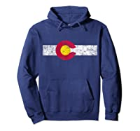 Colorado State Flag Vintage Colorado Day Gift Shirts Hoodie Navy