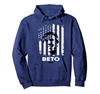 Beto O Rourke Usa Flag President Retro Vintage Orourke Gift Premium T Shirt Hoodie Navy
