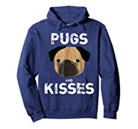 Pugs And Kisses Dog Animal Pet Funny Valentine S Day T Shirt Hoodie Navy