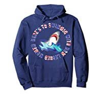 Shark Bow Legged Funny Shirt Hoodie Navy