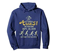 1st Annual Area 51 5k Fun Run They Can't Stop All Of Us Ufo Shirts Hoodie Navy