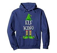 Elf King Matching Family Group Christmas Tshirt Hoodie Navy