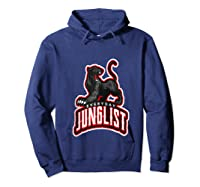 Junglist Dnb Drum And Bass Rave Panther Zip Shirts Hoodie Navy