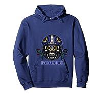 Baltimore Football Helmet Sugar Skull Day Of The Dead T Shirt Hoodie Navy