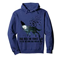 Wolf Lover Gift Shirt I Go To Lose My Mind And Find My Soul T Shirt Hoodie Navy