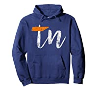 Tennessee State Flag Orange And Home Shirt Distressed Hoodie Navy