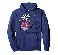 Mother S Day Gift Love Mom Mom Life Flower Tshirt Hoodie Navy