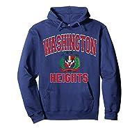 Washington Heights Dominican Flag Shield Varsity Style T Shirt Hoodie Navy