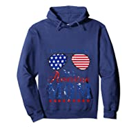 All American Mom 4th Of July Sunglasses Matching Family Tank Top Shirts Hoodie Navy
