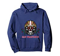 San Francisco Football Helmet Sugar Skull Day Of The Dead T Shirt Hoodie Navy