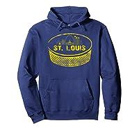 Retro St Louis Missouri Arch Cityscape Hockey Vintage Shirts Hoodie Navy