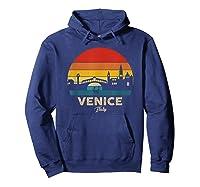 Vintage Venice T Shirt Italy Souvenir T Shirt Hoodie Navy