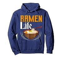 Ra Life Tasty Anime Noodle Bowl Shirts Hoodie Navy