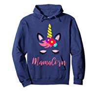 Mamacorn T Shirt Cute Funny Unicorn Gift For Mothers Day Mom Hoodie Navy