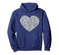 Heart Of Skulls Funny Valentine S Day T Shirt Hoodie Navy