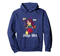 Village Witch Halloween Trick Or Treat Shirts Hoodie Navy