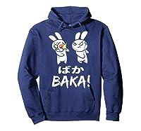 Anime Japanese Baka Rabbit Slap Manga T Shirt Gift Funny T Shirt Hoodie Navy
