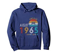 Retro Classic Vintage Jeeps August 1965 54th Birthday Jeeps Shirts Hoodie Navy