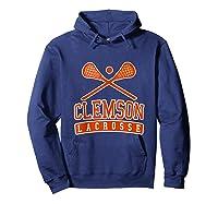 Vintage Clemson Lacrosse Shirts Hoodie Navy