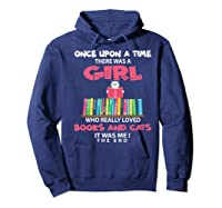 Once Upon A Time There Was A Girl Who Really Loved Books Premium T Shirt Hoodie Navy