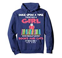 Once Upon A Time There Was A Girl Who Really Loved Books T Shirt Hoodie Navy