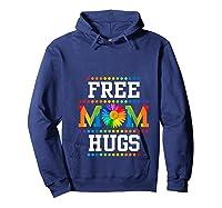 Free Mom Hugs Cute Flower Pride Lgbt Month 2019 Gift Shirts Hoodie Navy