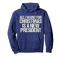 Impeach Trump Christmas T Shirt Funny Anti Potus Holiday Hoodie Navy