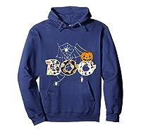 Halloween Boo Breast Cancer Awareness Pumpkin Month T Shirt Hoodie Navy