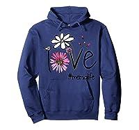 Mother S Day Gift Love Mema Life Flower Tshirt Hoodie Navy