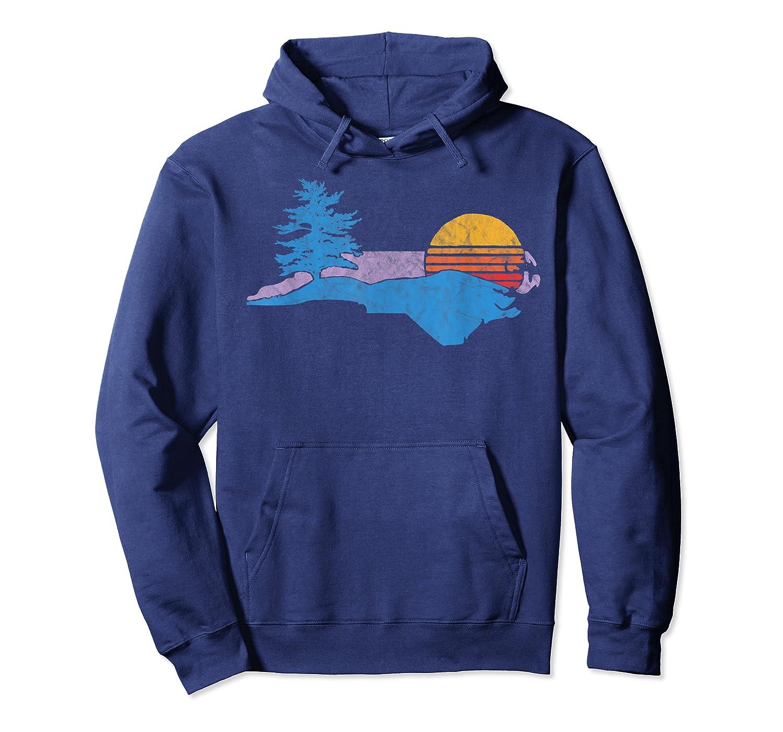 North Carolina Smokey Mountains Vintage Blue Ridge Shirts Unisex Pullover Hoodie