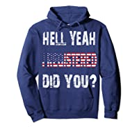 Registration Day Register To Vote Us Election Gift T Shirt Hoodie Navy