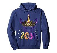 Unicorn Face Class Of 2034 First Day Kindergarten Girls Gift T-shirt Hoodie Navy