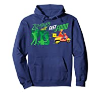 Cute Zombies Hate Fast Food For Couch Potatoes Shirts Hoodie Navy