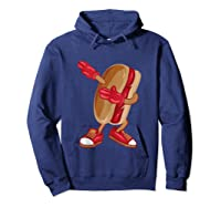 Dabbing Hot Dog Art Cool American Hot Dog Sandwich Gift Tank Top Shirts Hoodie Navy