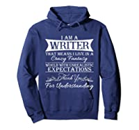 I M A Writer Gift For Authors Novelists Literature Shirt Hoodie Navy