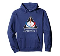 Artemis 1 Patch We Are Going Moon To Mars 2024 Vintage Shirts Hoodie Navy