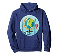 Science Design 4 Geography Travel T Shirt Hoodie Navy