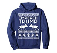 Impeach Trump Christmas T Shirt Anti Trump Holiday Wear Hoodie Navy