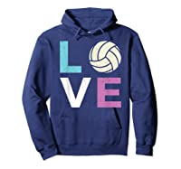And A Volleyball Shirts Hoodie Navy