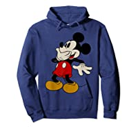 Disney Mickey Mouse Giggle T Shirt Hoodie Navy
