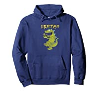 Reptar Eating Cereal With Text Reptar Cereal Shirts Hoodie Navy