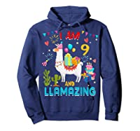 I Am 9 Years Old Zing Cute 9th Birthday Gift T-shirt Hoodie Navy