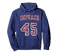 Impeach 45 Trump Not My President T Shirt Hoodie Navy