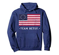 Team B Ross Flag Proud American Flag Distressed T Shirts Hoodie Navy