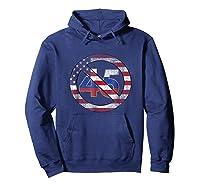 Impeach 45 Flag Themed Anti Trump Impeach Trump Shirt Hoodie Navy