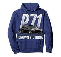Police Car Crown Victoria P71 Shirt Hoodie Navy