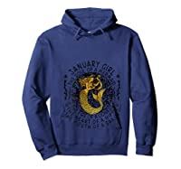 January Girl The Soul Of A Mermaid Tshirt Funny Gifts T Shirt Hoodie Navy